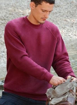 Fruit Of The Loom Raglan Sleeve Sweatshirt